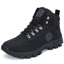 Winter Warm Men Shoes Breathable Safety Shoes Ankle Military Boots Men Outdoor Cotton Shoes Fur Snow Boots Zapatos De Hombre winter men military boots male waterproof snow ankle boots combat warm fur shoes zapatillas hombre