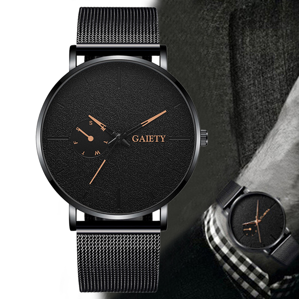 Luxury Men Business Stainless Steel Watches Casual Men's Alloy Quartz Wristwatches Fashionable Men Watch Clock Relogio Masculino
