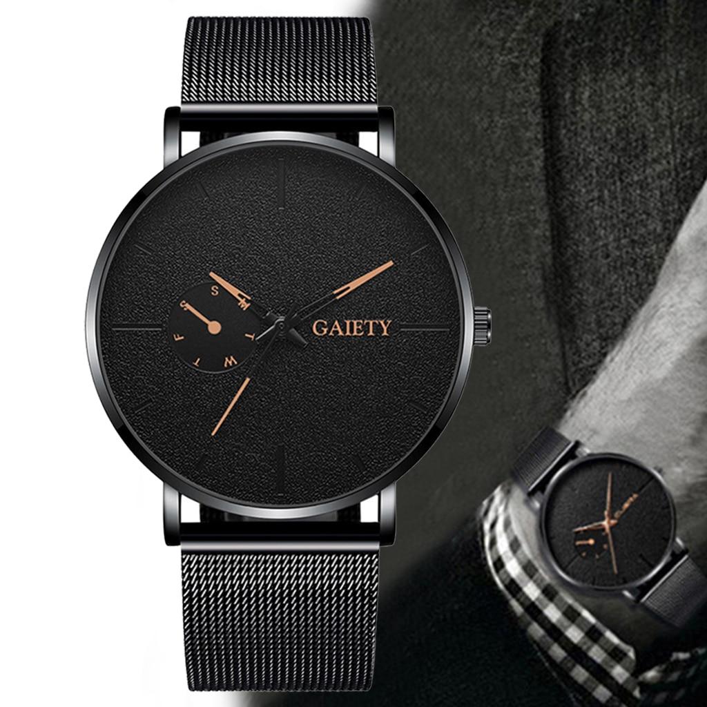 Luxury Men Business Stainless Steel Watches Casual Men's Alloy Quartz Wristwatches Fashionable Men Watch Clock Relogio Masculino