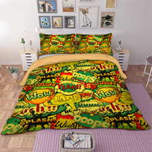 Wongs bedding Chat Bedding Set OOOPS WOW Duvet Cover Pillowcase Bedclothes Home Textiles