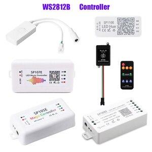 WS2812B Led Strip Controller;Bluetooth SP105E SP110E;Wifi SP108E SP501E;Music SP107E SP601E WS2811 SK6812 Light DC5V-24V(China)