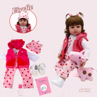 Baby Doll 19 inch 48cm soft silicone reborn doll boncas realistic toy boy girl bebe reborn dolls Christmas birthday gift toy