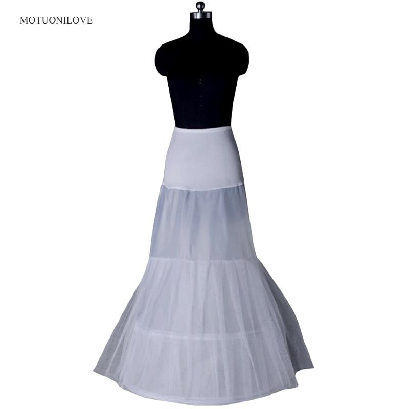 In Stock White Vintage Vestido Largo Floor Length Hoops Petticoat Crinoline Slip Underskirt Mermaid Petticoats For Wedding Dress