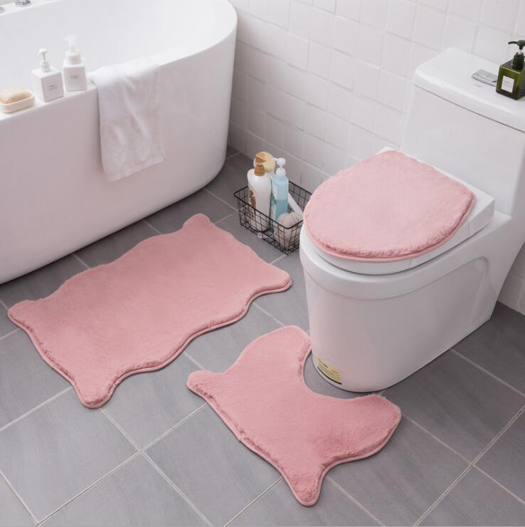 Toilet Lid Cover Thick Bath Mat