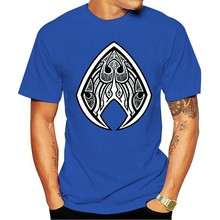 New Top Popular Aquaman Tribal Style Logo Classic T-Shirt Men Casual Wear S-3Xl Homme Plus Size Tee Shirt(China)