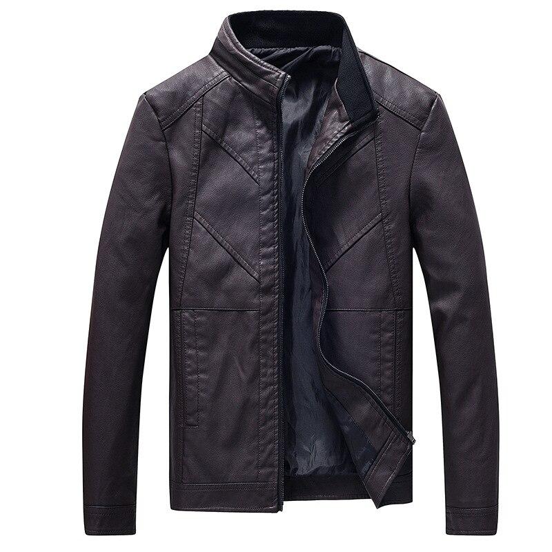 MEN'S Leather Coat 2018 New Style Korean-style Casual Washing Locomotive Leather Jacket MEN'S Coat Autumn And Winter PU Leather