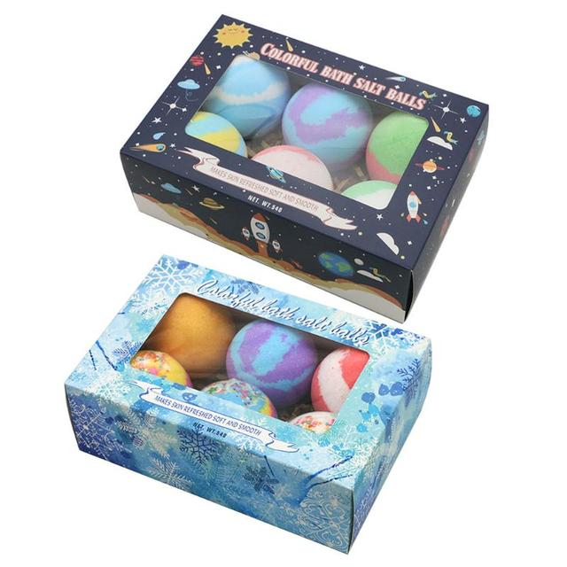 6pcs/set Soap Handmade Bath Bomb Ball Essential Oil Exfoliating Body Shower Bubble Salt Balls Skin Care Cleaning 2