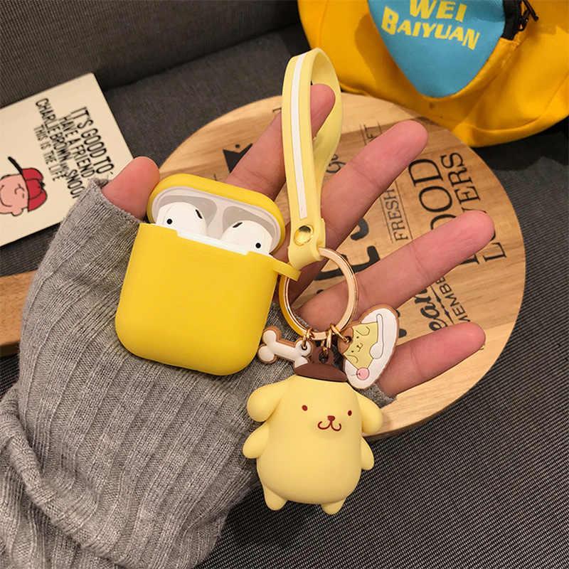 Hoạt Hình Dễ Thương Hello Kitty Ếch Kuromi Thỏ Móc Khóa Với Dây Buộc Cho Apple Airpods1 & 2 Ốp Lưng Quà Tặng Túi Xách Nữ mặt Dây Chuyền Chìa