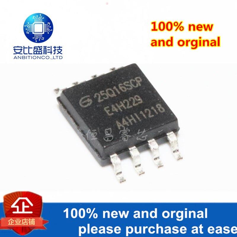 10pcs 100% New And Orginal GD25Q16SCP Silk-screen 25Q16SCP 25Q1616Mbits SOP8 In Stock