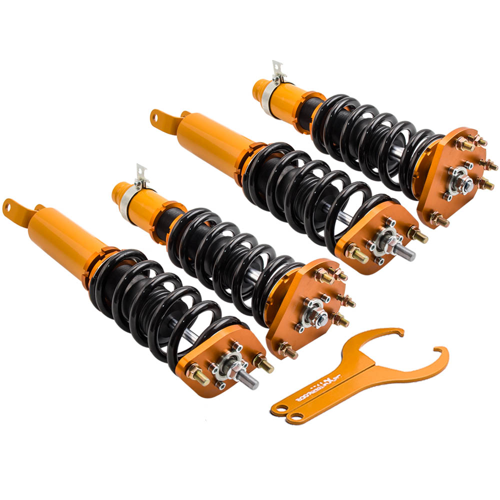 maXpeedingrods Coilover Lowering Kits for Prelude 1992-2001Shock Absorbers Adj Height
