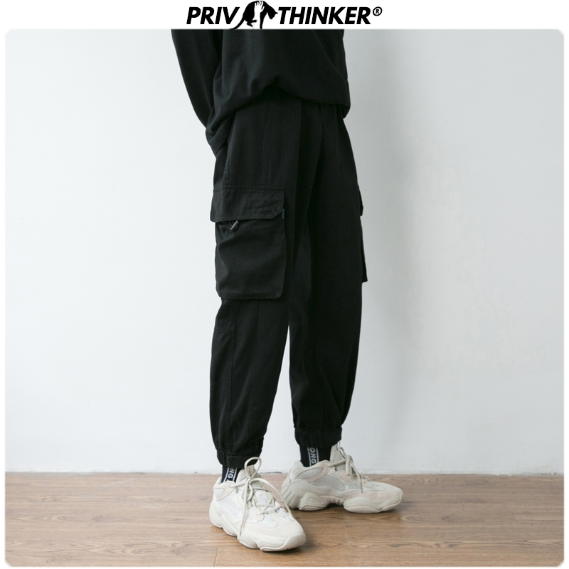 Privathinker Men Spring Safari Style  Cargo Pants Men's Casual Japanese Joggers Male Korean Trousers Fashion Clothing