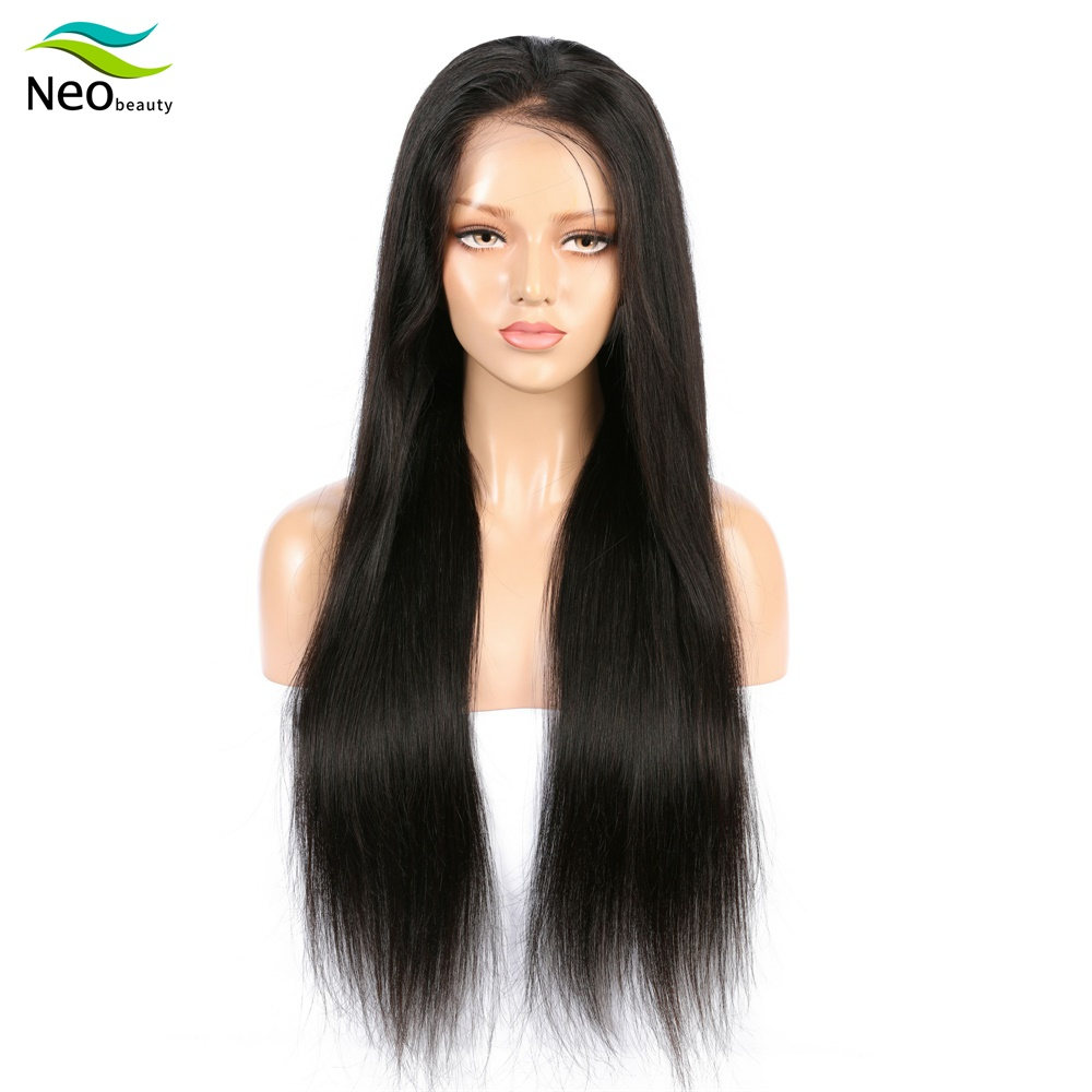 13x4 Lace Front Really Human Hair Wigs For Black Women Brazilian Virgin Hair Super Natural Soft Straight Glossy Wig Echt Hair