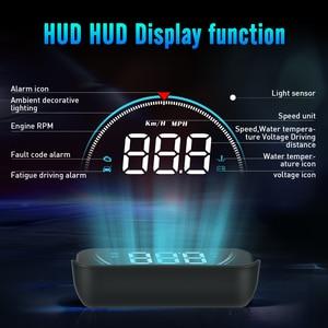 Image 2 - GEYIREN M8 araba HUD Head Up Display OBD2 II EUOBD aşırı hız uyarı sistemi projektörü cam otomatik elektronik voltaj alarmı