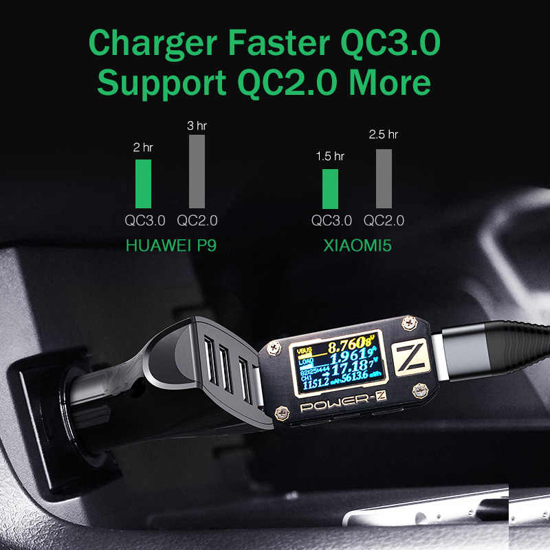 LOVECOM 30W 4 Ports Car Charger Quick Charge 3.0 Dual USB Adapter Fast Charging For iPhone Samsung Xiaomi Phone Car-Charger