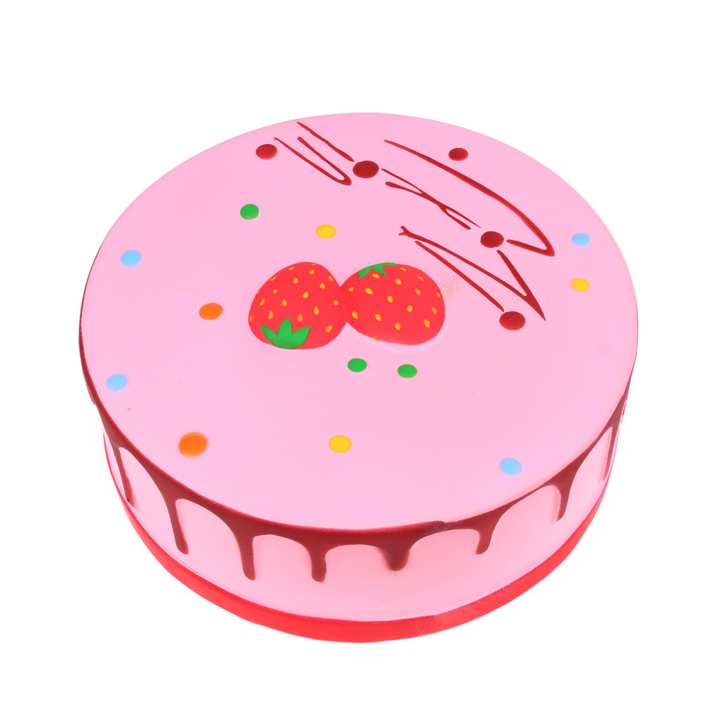 New Giant Strawberry Cake Slow Rising Kids Fun Toy Stress Reliever Slow Rebound Toy Soft PU Cake Antistrees Toys #D