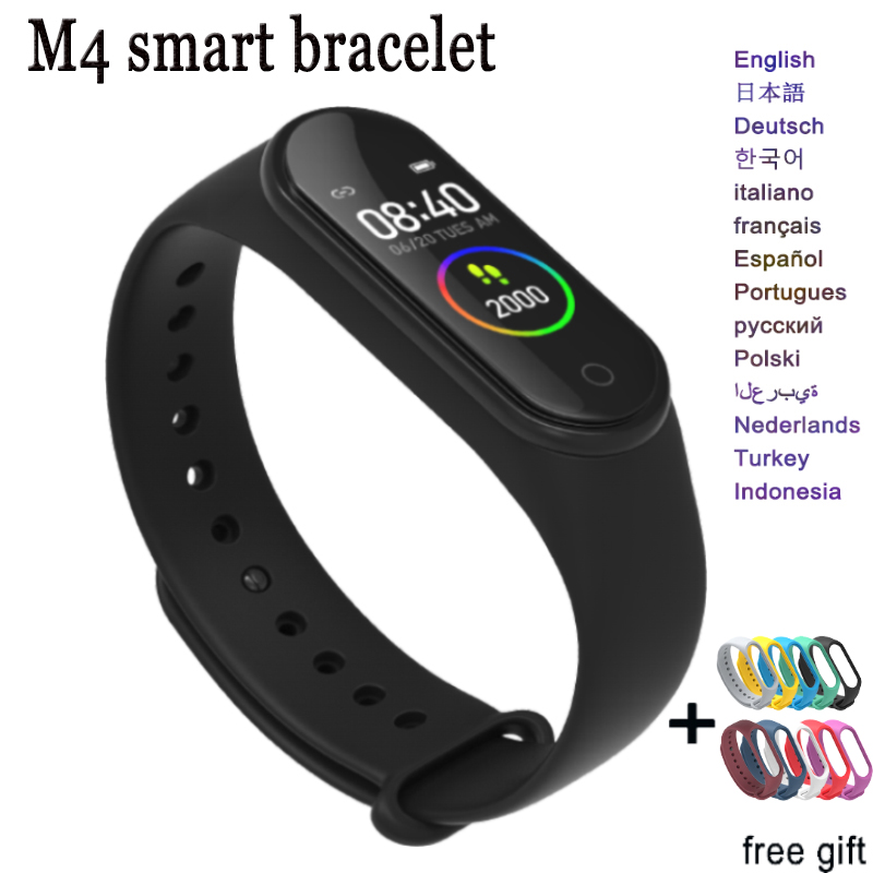 M4 Smart Band Sports Waterproof fitness bracelet SmartBand Give extra strap Blood Pressure Heart Rate Monitor for man women kids