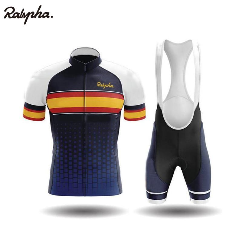 Ralvpha 2020 New Summer Cycling Suit Road Bike Clothing Men's Pro Shorts Bib Mtb Bike Jersey Shirt Maillot Ciclismo Kit