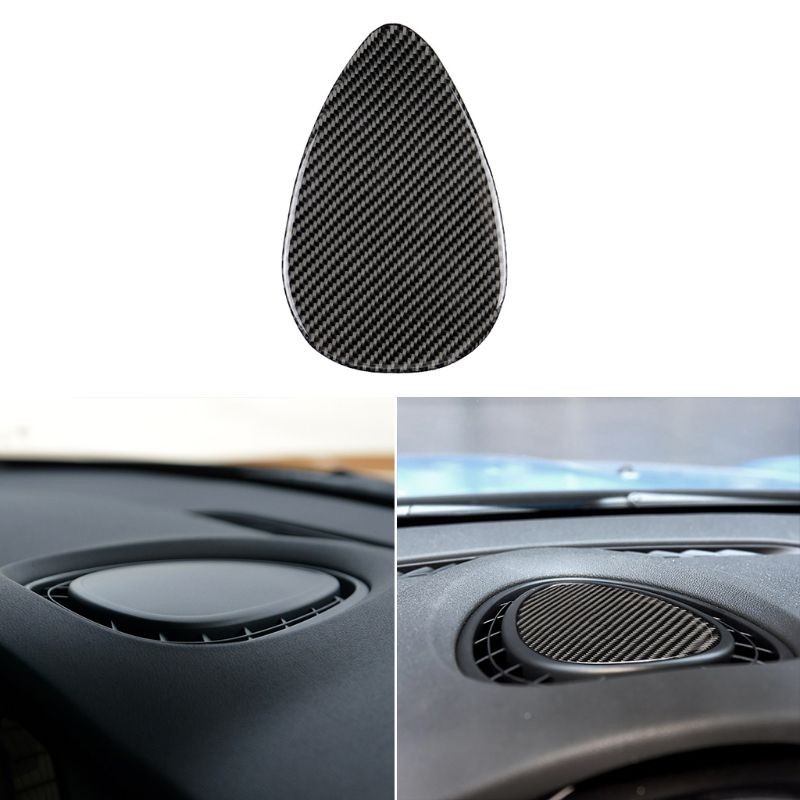 <font><b>Carbon</b></font> Fiber Car Console Air Outlet Vent Cover Stickers Interior Trim for <font><b>Mini</b></font> Cooper JCW One <font><b>F56</b></font> F55 F54 Accessories 57BA image