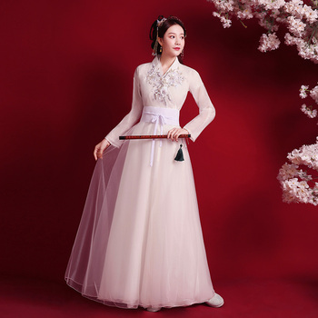 Traditional Chinese clothing fairy TV stage costume guzheng dance costume film and television drama improved Hanfu women's skirt