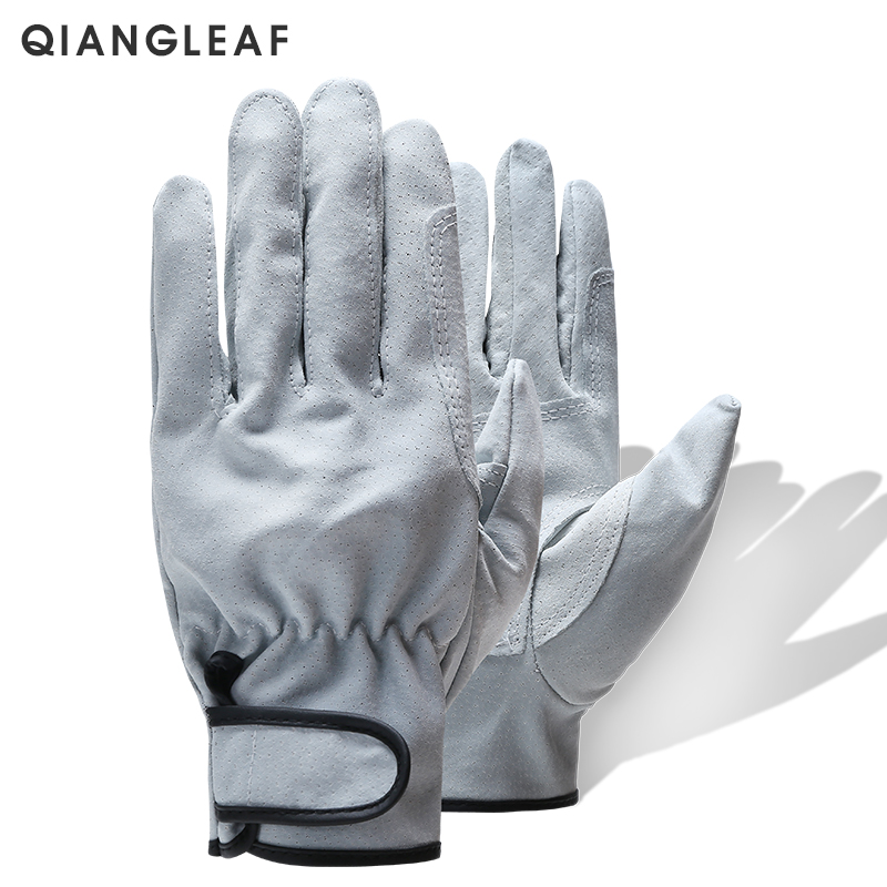QIANGLEAF Brand Hot Sale Wear Resistant Work Gloves Ultrathin Microfiber Leather Safety Glove Wholesale Free Shipping 320