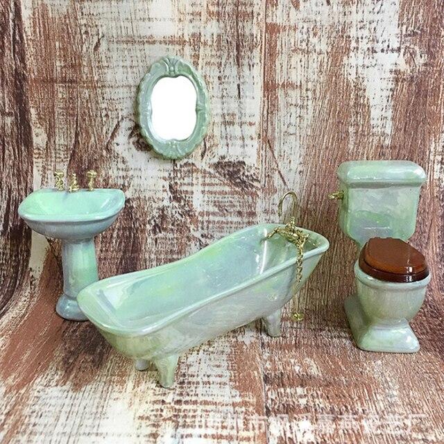 4PC 1:12 Scale Bathroom Accessory Dollhouse Miniature Re-ment Doll Home Scene \