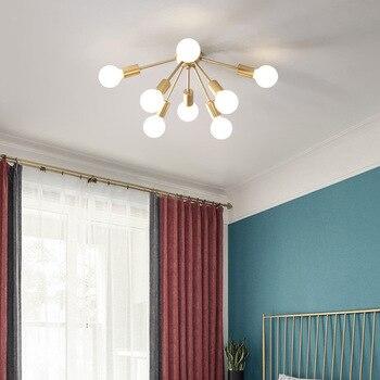 Industrial Iron Ceiling Light Living Room Lighting Nordic 220V E27 LED Lamp