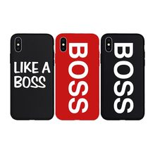Brand NEW Logo BOSS Cool Soft Case for iPhone 11 11Pro 11ProMax X Xs XR XsMax 8Plus 8 7Plus 7 6 6s Plus 5 5s SE Phone Cover(China)
