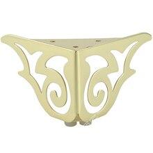 4個ゴールドパターン金属家具の脚ソファ足ヘアピン脚ヘアピン脚家具保護足ハードウェアベッドライザー