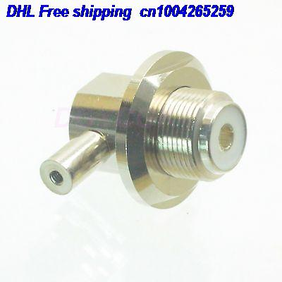 DHL 50pcs SO239 UHF Female Bulkhead RA 90 Degree Solder RG174 RG316 LMR100 Radio Connector  22-ct