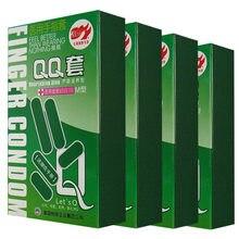 40 pçs produtos de sexo adulto aloe fragrância ultra-fino dedo preservativo para mulher 10 pçs/caixa 4 box/pack