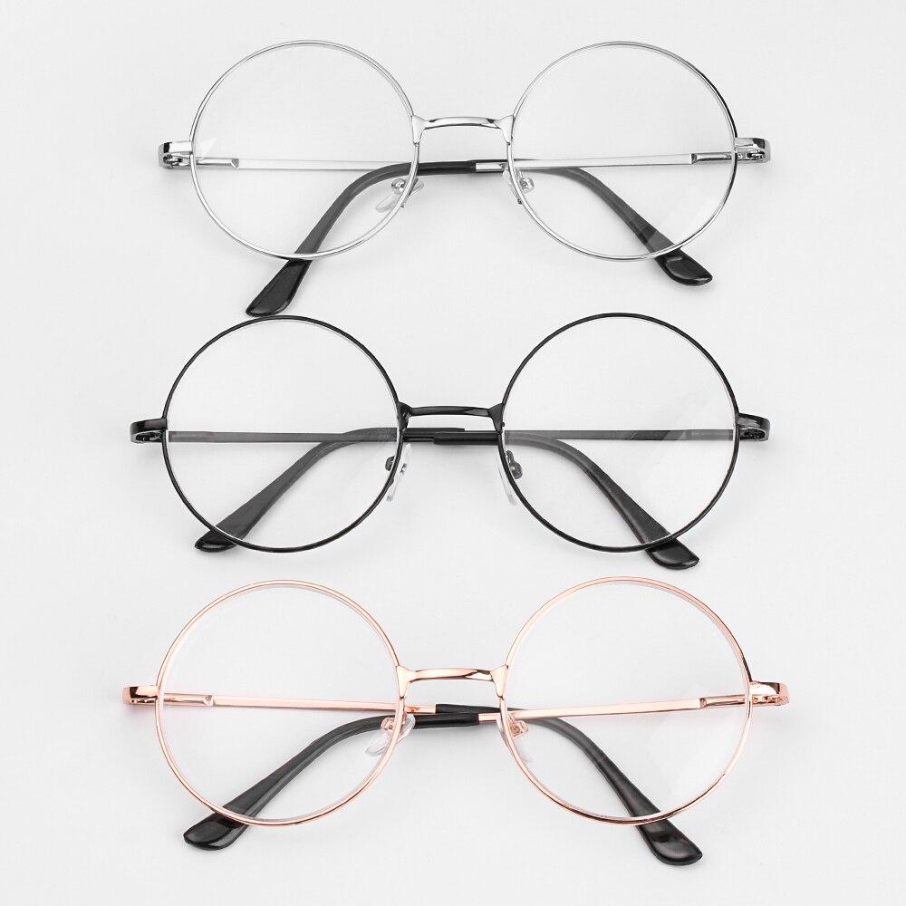 Металлические круглые очки для чтения с прозрачными линзами, очки для близорукости для мужчин и женщин, винтажные очки для близорукости-1-1,...