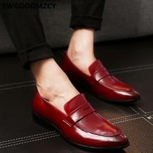 Oxford sapatos de escritório dos homens sapatos de couro azul formal masculino preto corporativo sapatos para homem coiffeur sepatu deslizamento em pria zapato