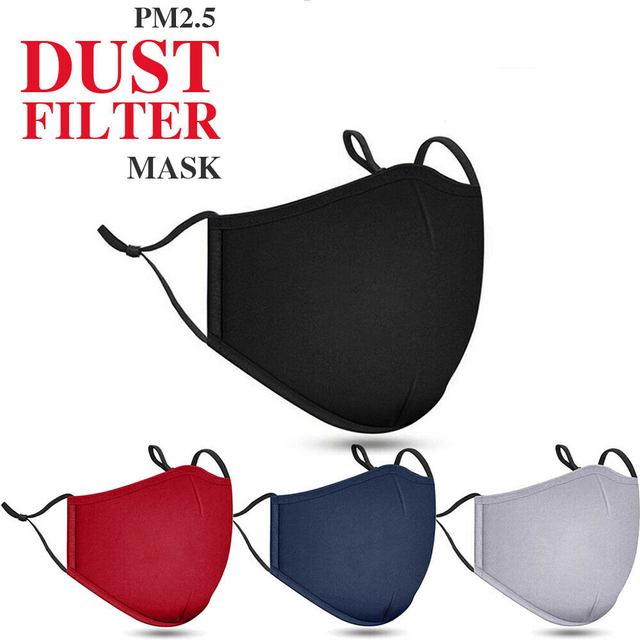 New Cotton Face Mouth Cover Anti Haze Reusable Double Layer Respirator Dustproof Mouth Muffle Masque Pm2.5 Filter Black Red Blue 5