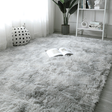 Plush Carpet for Living Room Fluffy Rug Thick Bed Room Carpets Anti-slip Floor Gray Soft Rugs Tie Dyeing Velvet Kids Room Mat