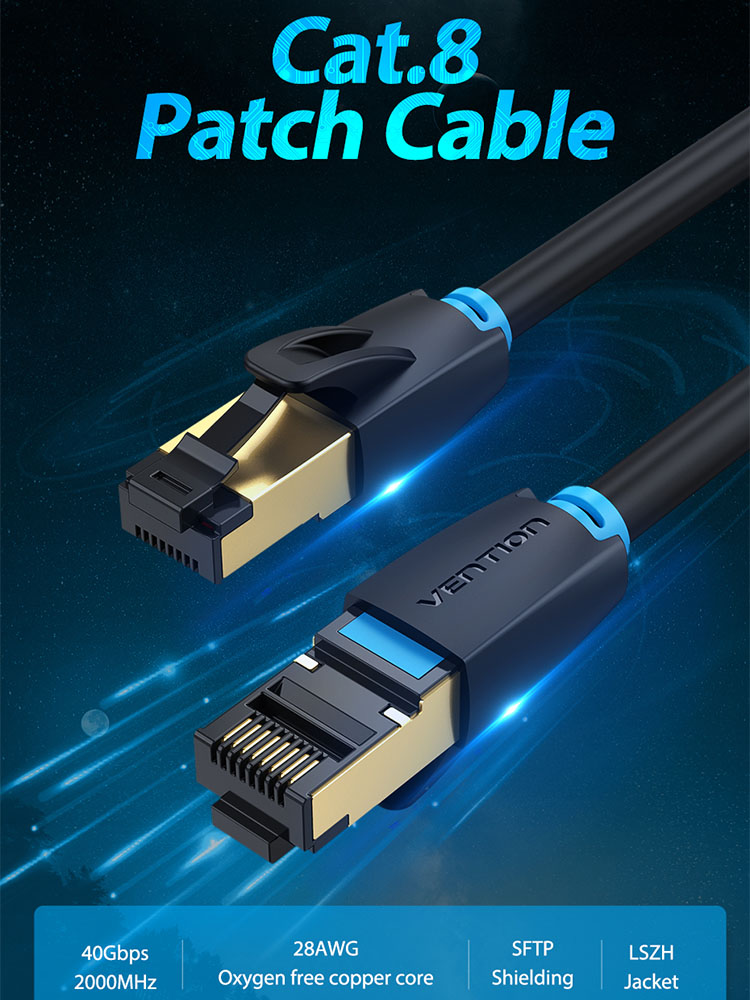 Computer cables LAN cables Ethernet Cable/&Connector 1m CAT7 10 Gigabit Ethernet Ultra Flat Patch Cable for Modem Router LAN Network Black Color : Black Built with Shielded RJ45 Connectors