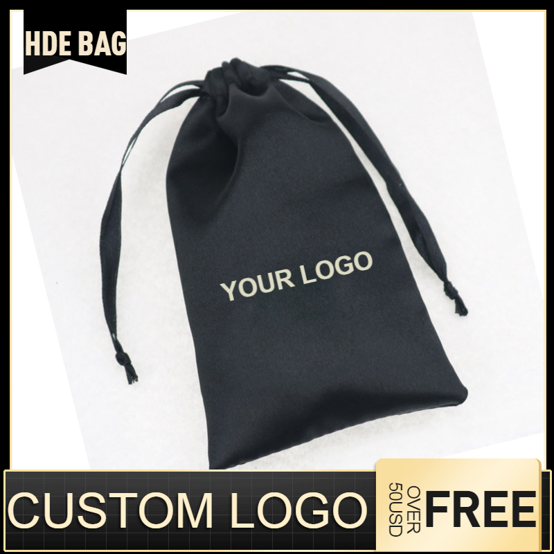 Satin Bags For Packaging Hair Soft Silk Pouches Drawstring Storage Bag Cloth/Shoes/Jewelry/Dust/Gift Bag Packing Bags