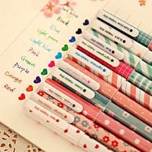 10 шт./партия цветная ручка цветок животное звездная звезда сладкий Флора цветная гелевая ручка 0,5 мм милые ручки для школы Kawaii корейский стационарный