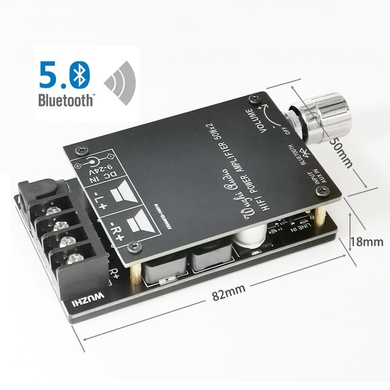 Bluetooth 5.0 Digital 50W+50W TPA3116 Audio Power Amp For Speakers 30W~200W HiFi Stereo TPA3116D2 Aux Amplifier Board 2