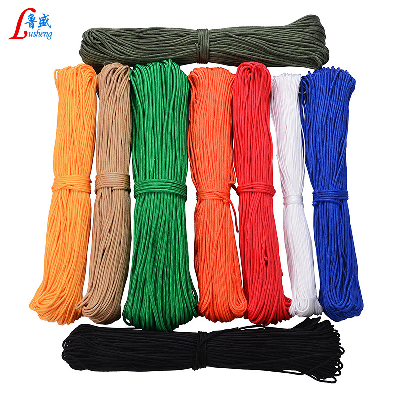 Nylon Braided Rope Color White 1 Mm-28 Size Tent Rope Binding Rope Outdoor Multi-functional Rope Nylon Rope