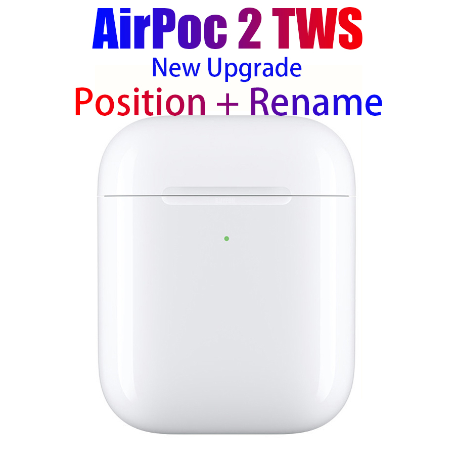 AirPoc 2 AP2 TWS Headphone GPS Positioning Rename Smart Sensor Wireless Bluetooth Earphone Wireless Headset Best Version 2  Air