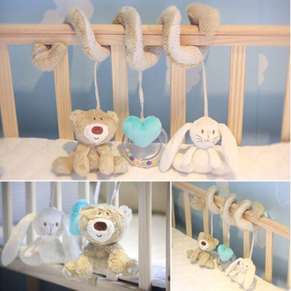 Stroller Toy Accesaries Hanging Crib Rattle Toys Baby Stroller Hanging Toy For Infant Baby Play Activity Spiral Stroller Set