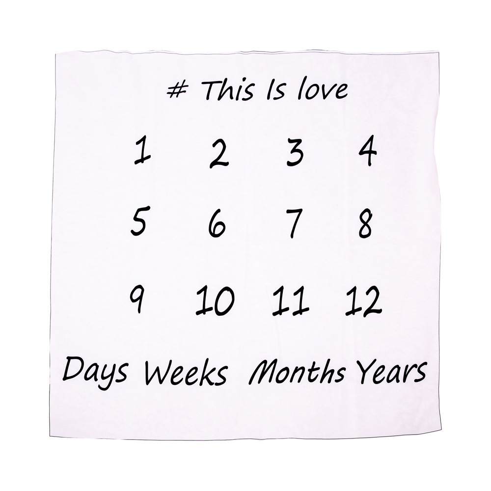 Baby Milestone Blanket Newborns growth memorial Stuff Cartoon Print Photography Monthly Background Cloth Babies gifts souvenirs