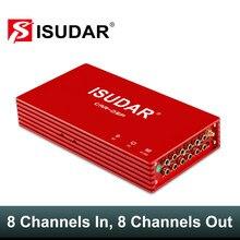 ISUDAR-AMPLIFICADOR DE COCHE DA08 DSP, procesamiento de Audio Digital automático, 1200W, Máximo, Bluetooth 5,0, Clase AB, 8 canales de entrada