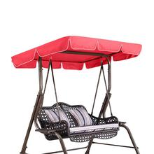 2/3 Seat Garden Swing Chair Cover 210D Oxford Cloth Waterproof UV Resistant Outdoor Courtyard Hammock Swing Seat Sunshade Cover