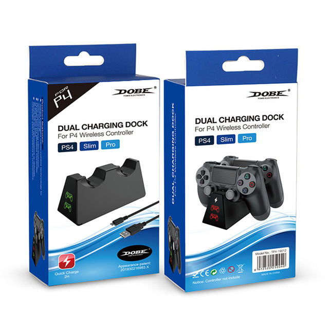 Portable Battery Charger Dual Charging Dock Station HD for Playstation  PS4 Pro 6