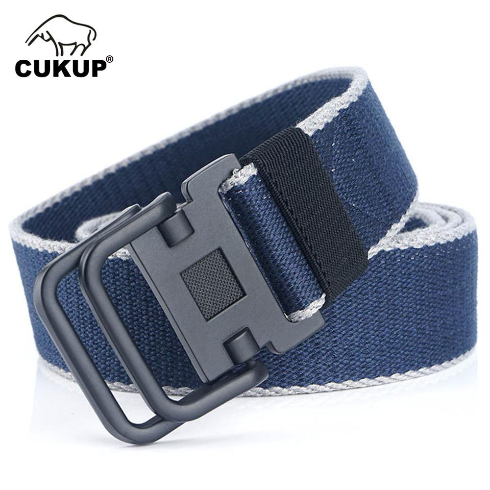 CUKUP Mens 2019 New Brand Unisex Design Double Ring Buckle Belt Man Quality Canvas Nylon Waistband Casual Belts for Men CBCK140
