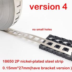 Image 5 - 1kg 2 p 18650 리튬 배터리 니켈 도금 스틸 스트립 spcc 니켈 시트 벨트 테이프 0.15mm 배터리 팩 커넥터 2 병렬