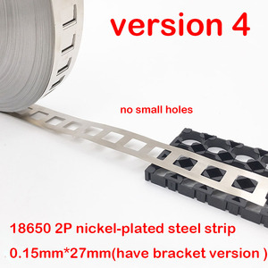 Image 5 - 1kg 2P 18650 Lithium Battery Nickel Plated Steel Strip SPCC Nickel Sheet Belt Tape 0.15mm Battery Pack Connector 2 in parallel