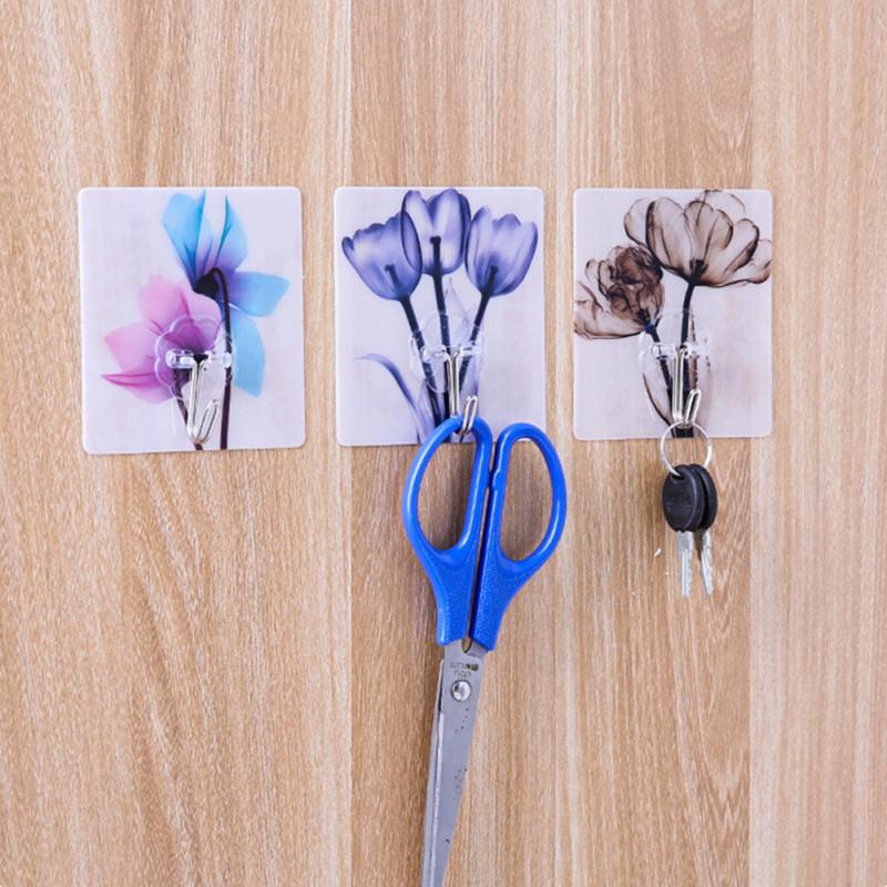 3/4 Pcs Self Adhesive Hooks Cat Pattern Storage Holder for Bathroom Kitchen Hanger Stick on Wall Hanging Door Clothes Towel Rack