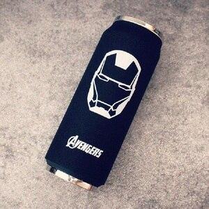 Image 5 - Creatieve Rvs Super Held Avenger Justice League Thermos Blikjes Draagbare Unisex Studenten Persoonlijkheid Trendy Stro Cup